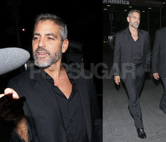 George Clooney Has Boys Night Out At Nobu