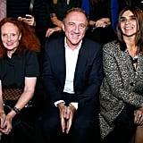 Grace Coddington, Francois-Henri Pinault, and Carine Roitfeld