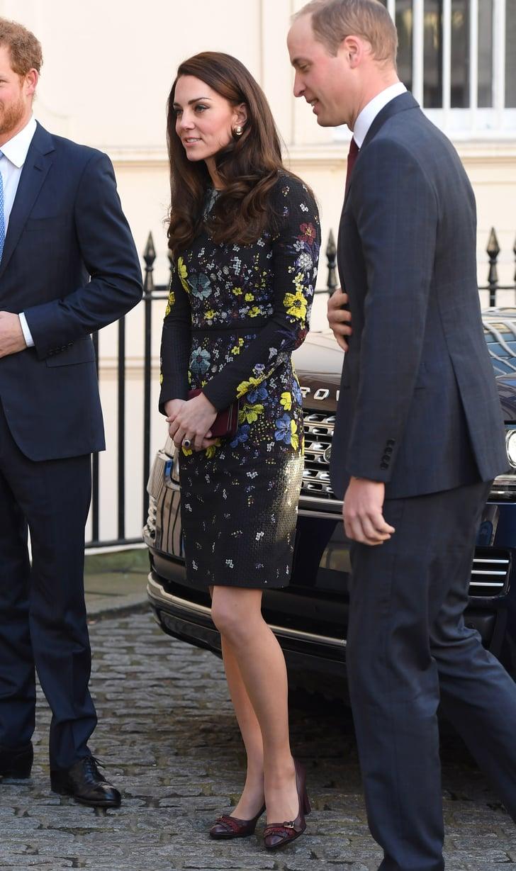 Kate Middleton Floral Erdem Dress Jan. 2017   POPSUGAR ...