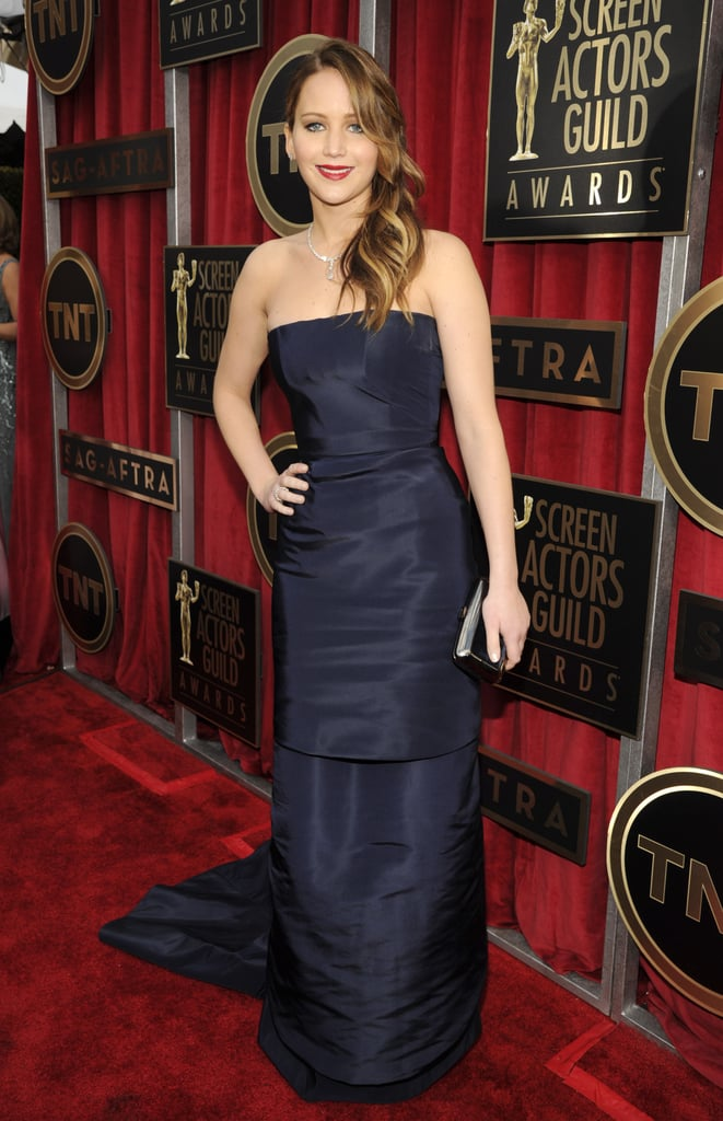 Jennifer Lawrence wore Dior Haute Couture for the SAGs.