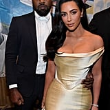 Kanye West and Kim Kardashian at Diddy's 50th Birthday Party
