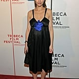 Amanda Peet wore her hair in a high ponytail at the Please Give premiere during the ninth annual Tribeca Film Festival in April 2010.