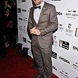David Arquette posed solo at the Creative Coalition dinner Sunday night before the 57th presidential inauguration.