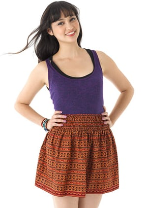 This tribal-printed miniskirt is perfect for pairing with a white tee, espadrilles, and a chambray blazer for a Spring office look. Delia's Tribal Print Skirt ($35)