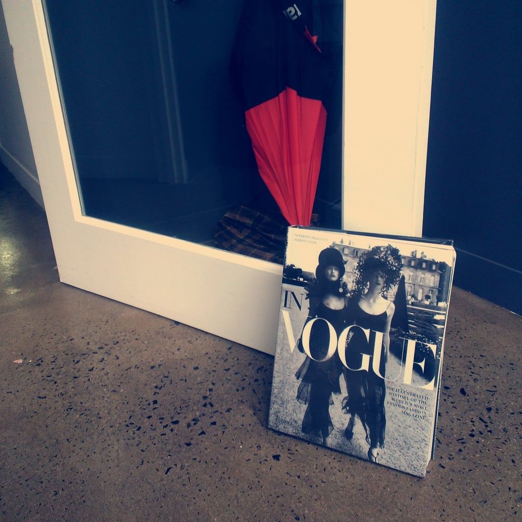 Is this not the chicest doorstop you've ever seen? The AMPR girls showed us the door (in).