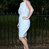 Eugenie looked elegant in powder blue, flaunting this Burberry sheath at the Serpentine Gallery Summer Party in 2014.