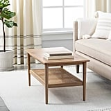Wood and Cane Coffee Table