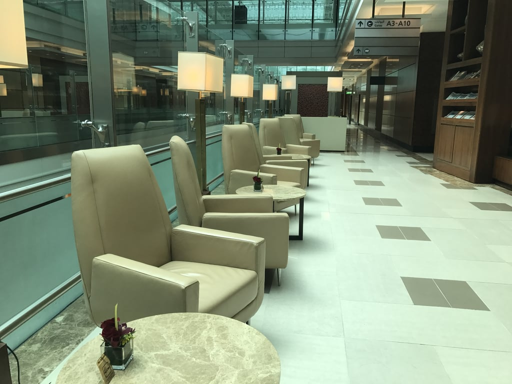 The lounges offer secluded seating and an escape from the crowds at the airport.