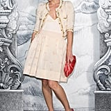 Milla Jovovich posed at the Chanel photocall in Paris.