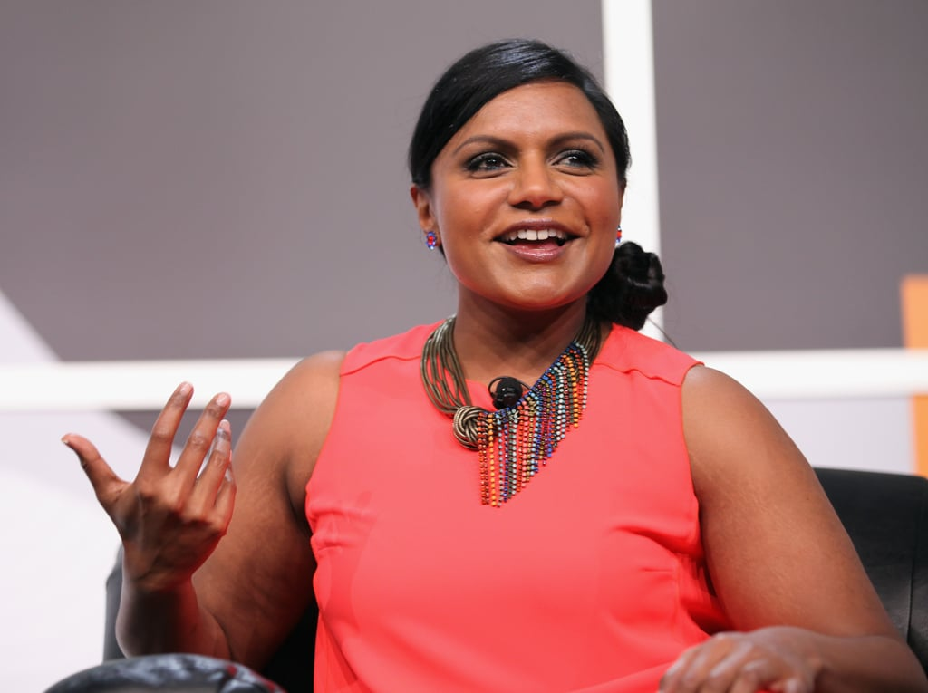 Mindy Kaling gave her take on television at an event on Sunday.