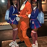 Kourtney and Friends as Austin Powers, Fook Mi, and Fook Yu