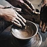 Paint ceramics together.