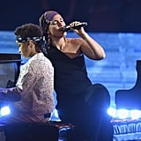 Alicia Keys With Her Sons at 2019 iHeartRadio Music Awards