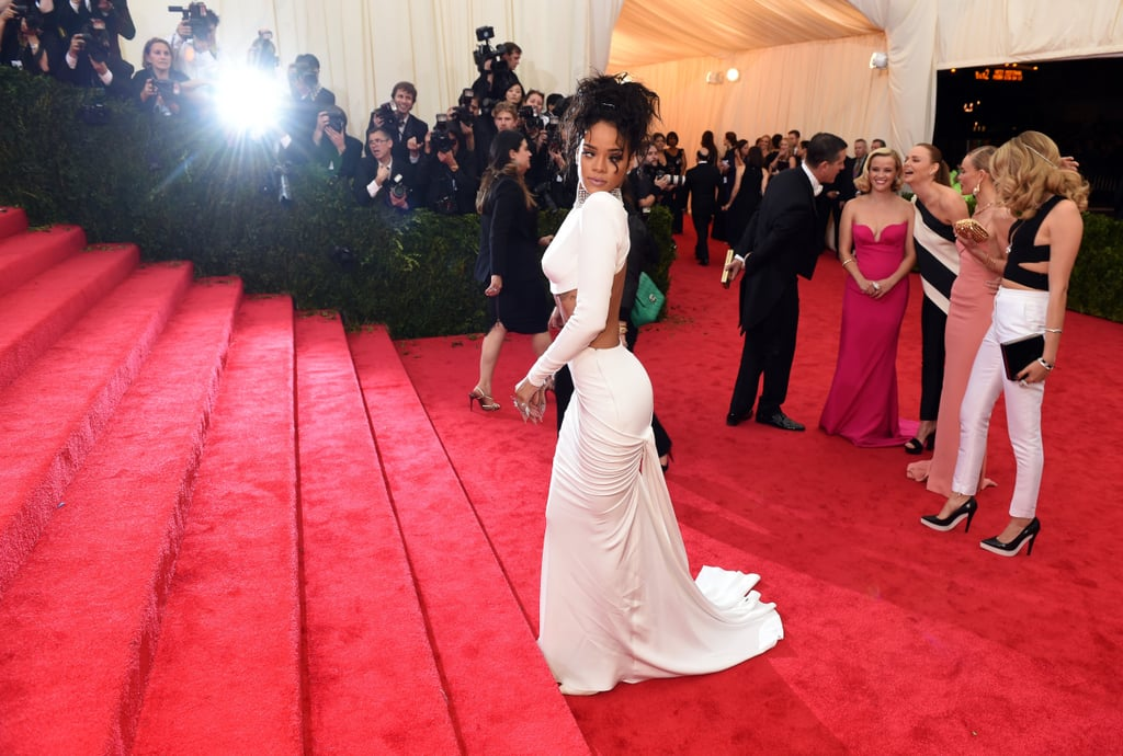 When they weren't taking cute group photos, the Met Gala dream team — Reese Witherspoon, Stella McCartney, Kate Bosworth, and Cara Delevingne — were having a ball of their own behind Rihanna.