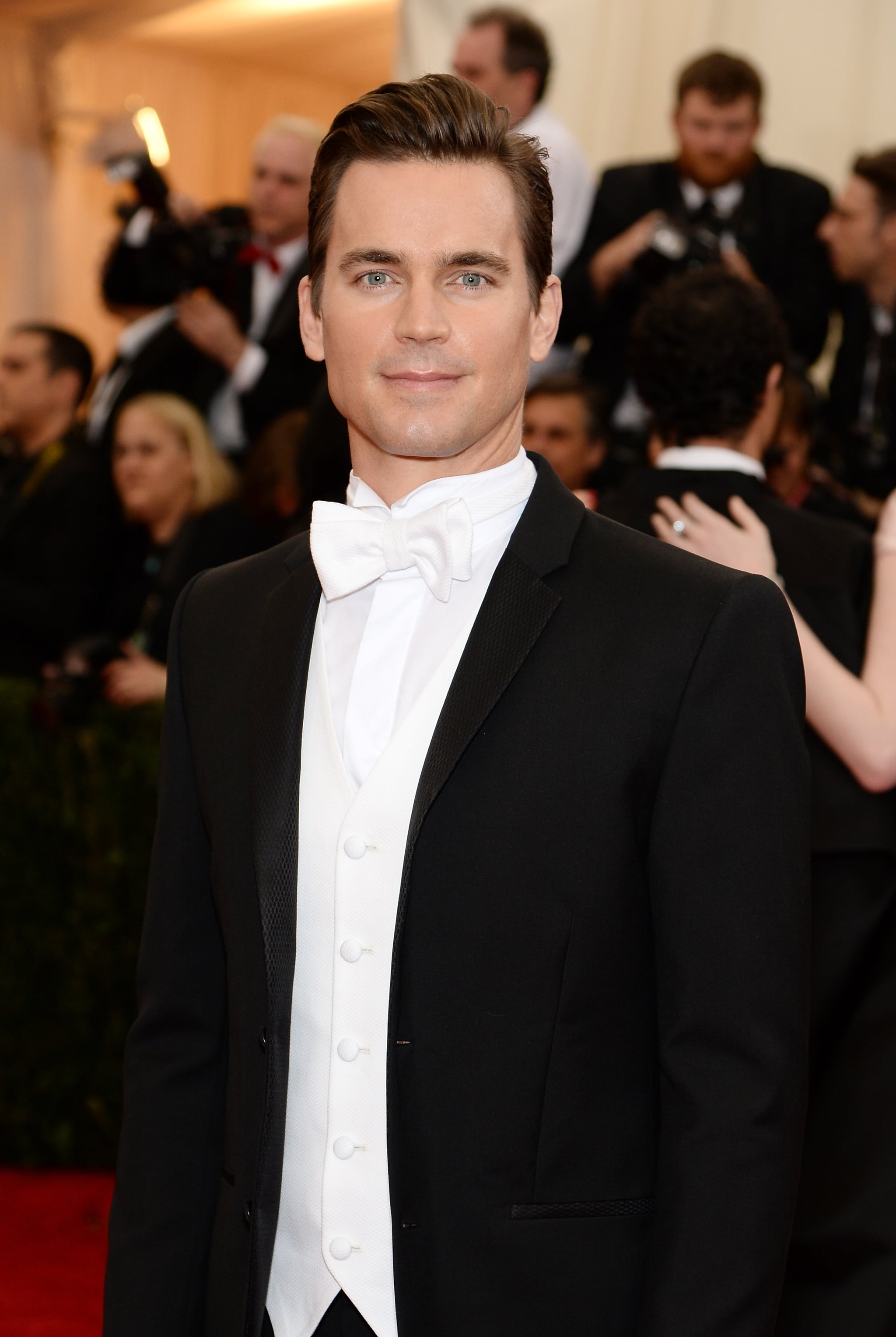 Matt Bomer looked like an actual Ken Doll in his tuxedo.