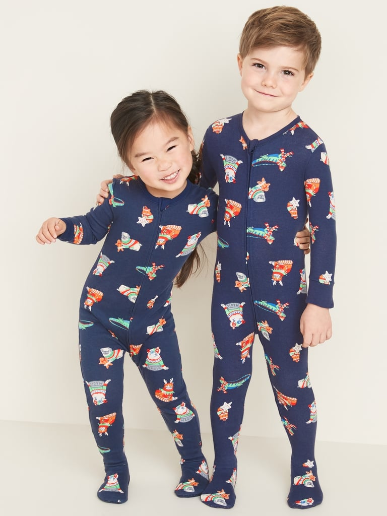 Old Navy Printed Footie Pajama One-Piece