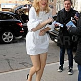 Fans greeted Rachel McAdams at her hotel.