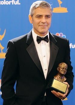 George Clooney Talks Elisabetta, Brad Pitt, and John Krasinski in the Emmys Press Room 2010-08-29 20:10:12