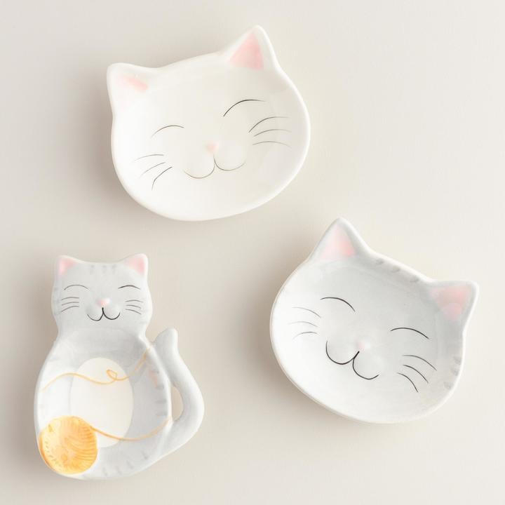 Cat Ceramic Tea Rests Set of 3 ($9)