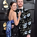 Finneas O'Connell and Claudia Sulewski at the 2020 Grammys