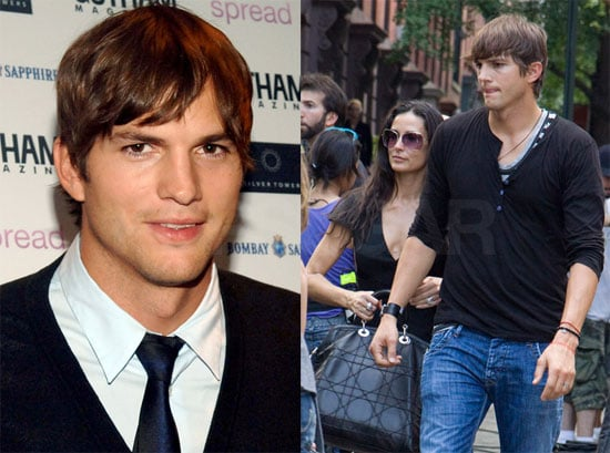 Photos of Ashton Kutcher Celebrating His Gotham Magazine Cover and With Demi Moore on the Set of The Beautiful Life