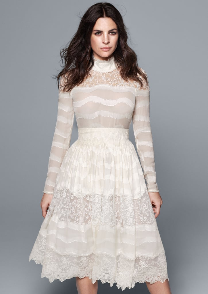 H&M Conscious Collection Silk Blend Blouse With Lace ($80) and Silk Blend Skirt With Lace ($199)