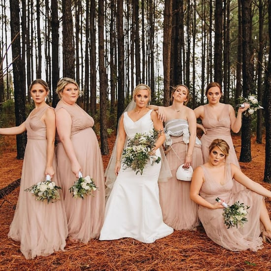 Wedding Photo of Bridesmaid Wearing Breast Pump