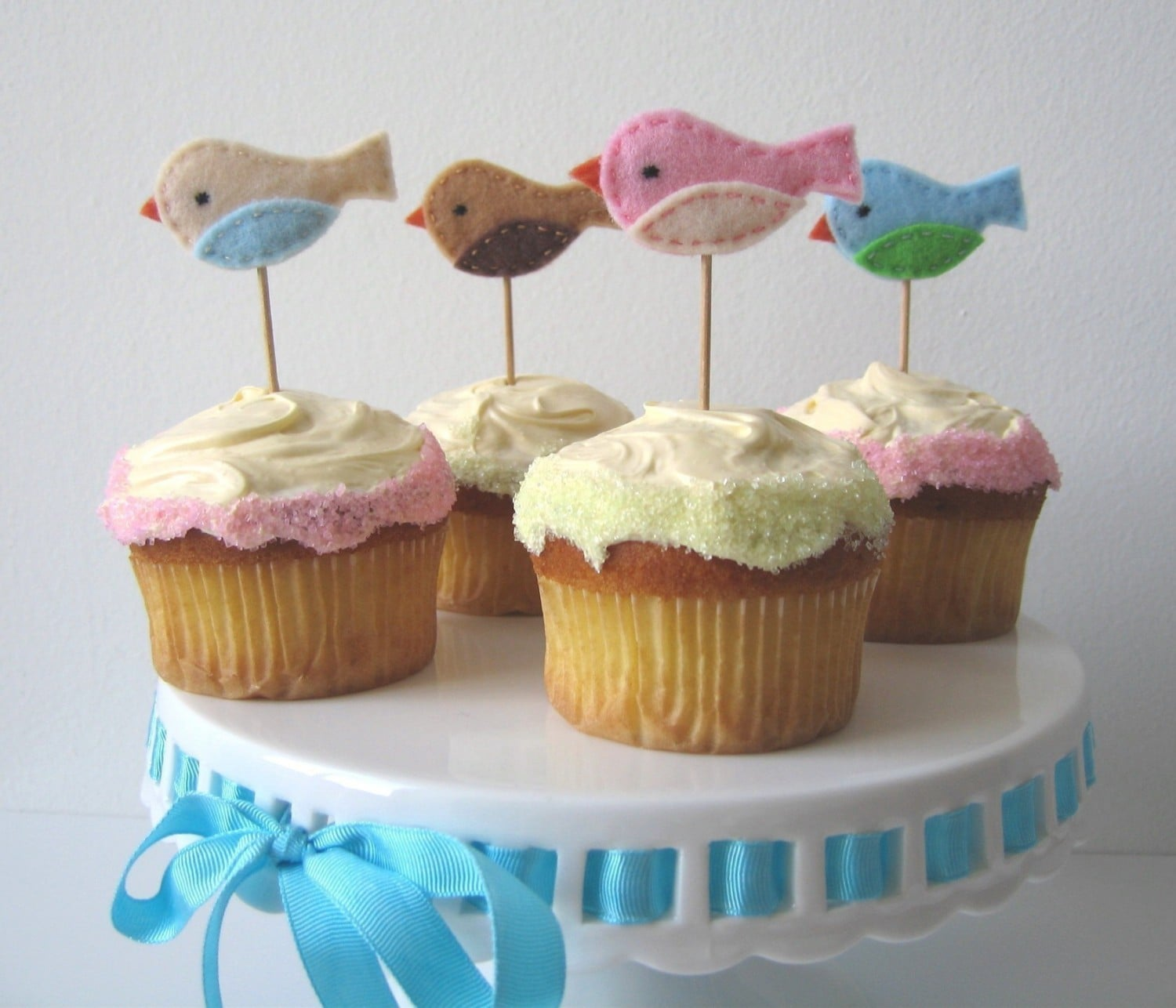 Little Birdie Cupcake Toppers ($18)