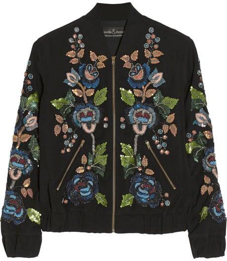 Needle & Thread Embellished Cady Bomber Jacket