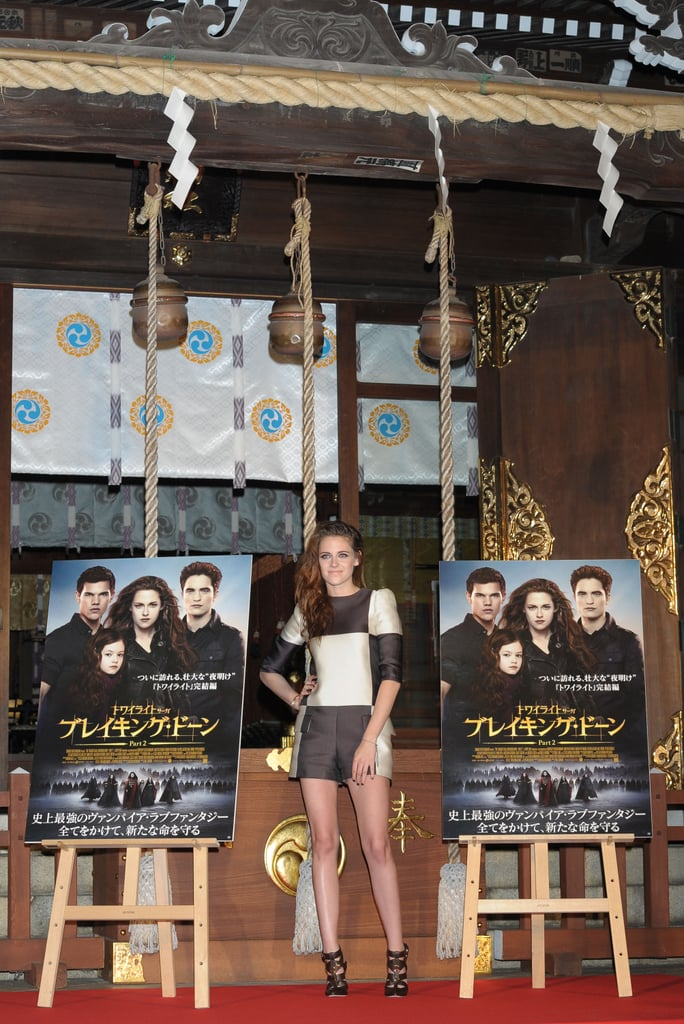 Kristen Stewart attended a Breaking Dawn Part 2 promotional event in Japan.