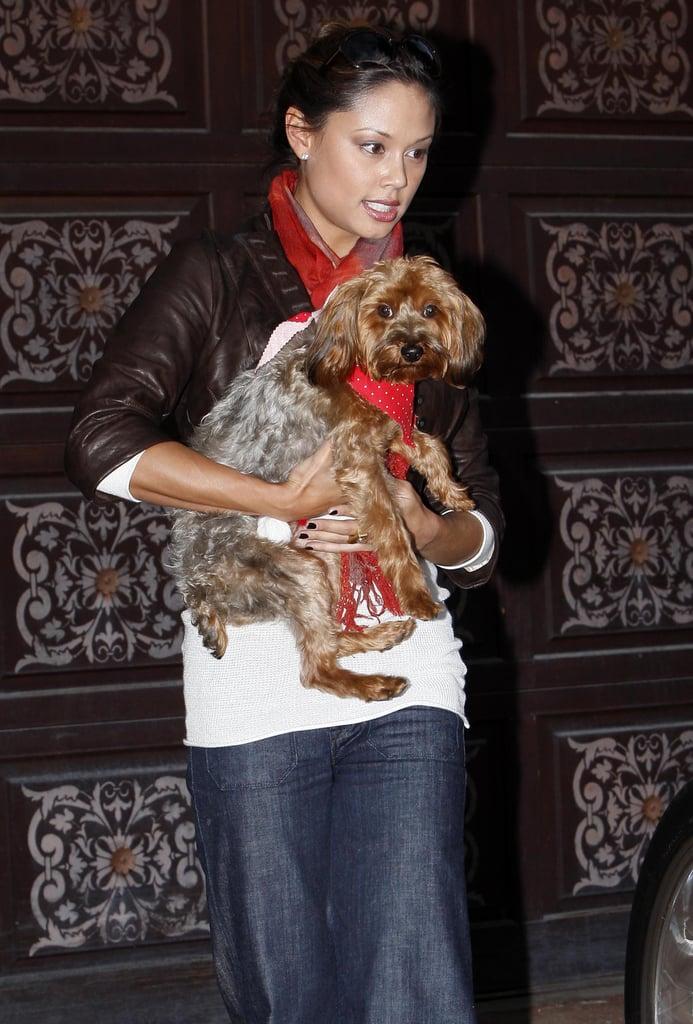 Vanessa Minnillo and Wookie