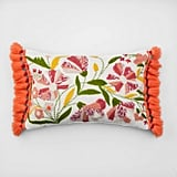 Get the Look: Embroidered Floral Lumbar Throw Pillow