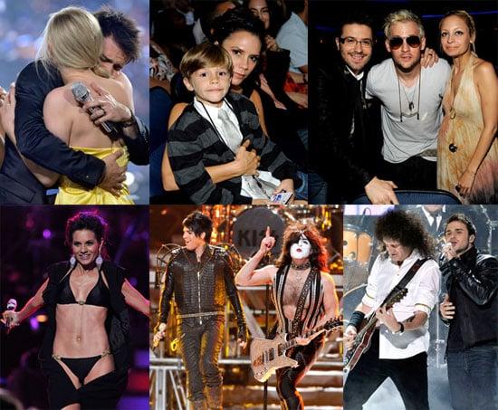 Photos of Nicole Richie, Kris Allen, Adam Lambert, Joel Madden, Victoria Beckham, at the Season 8 American Idol Finale