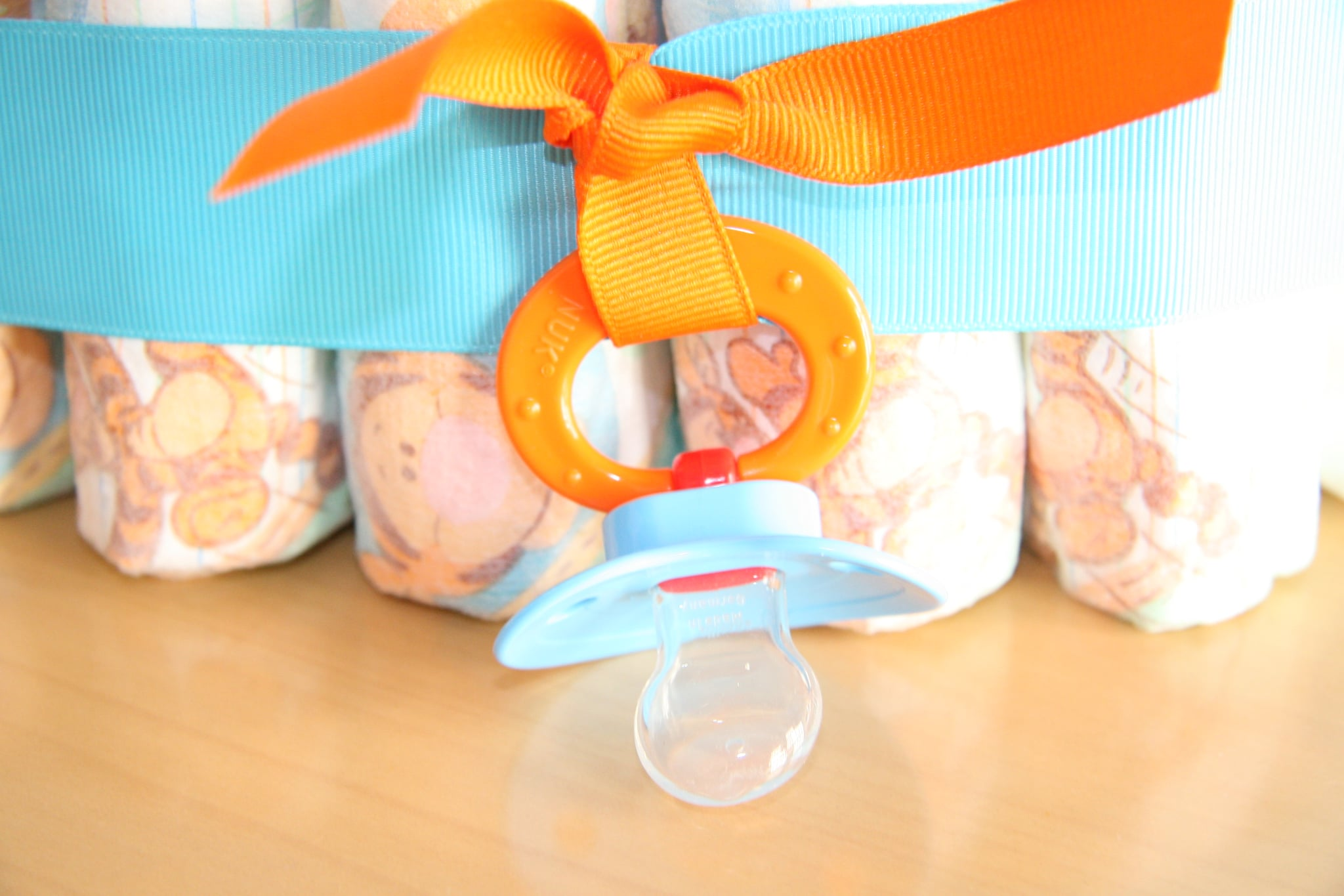 Close up of pacifier.