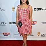 Maisie Williams looked sweet in gingham at the BAFTAs.