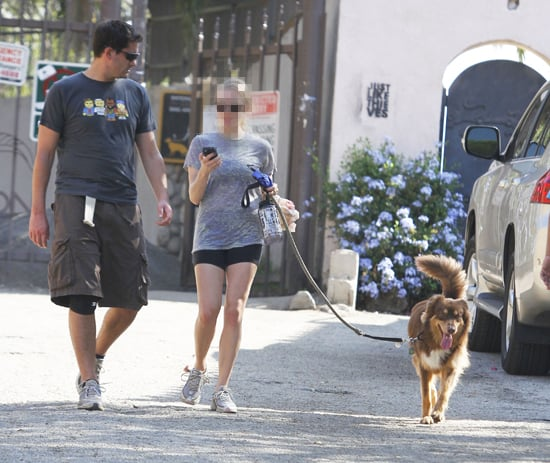 Guess Which Movie Star Is Walking Her Dog?