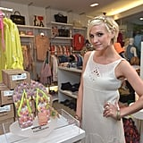Ashlee Simpson struck a pose at Kitson in Beverly Hills.