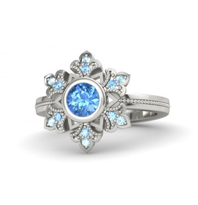 Blue topaz Elsa Engagement Ring  ($1,200)
