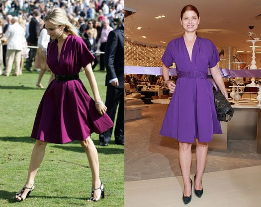 What color shoes go with dark purple dress