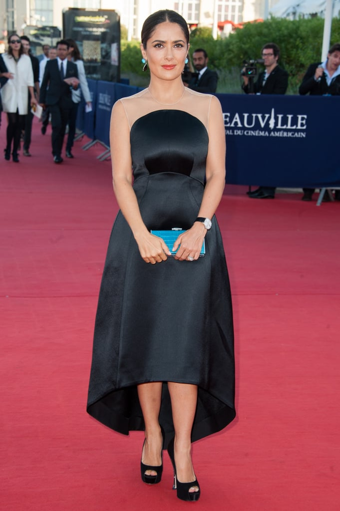 Salma Hayek Hits the Deauville Film Fest With Her Family