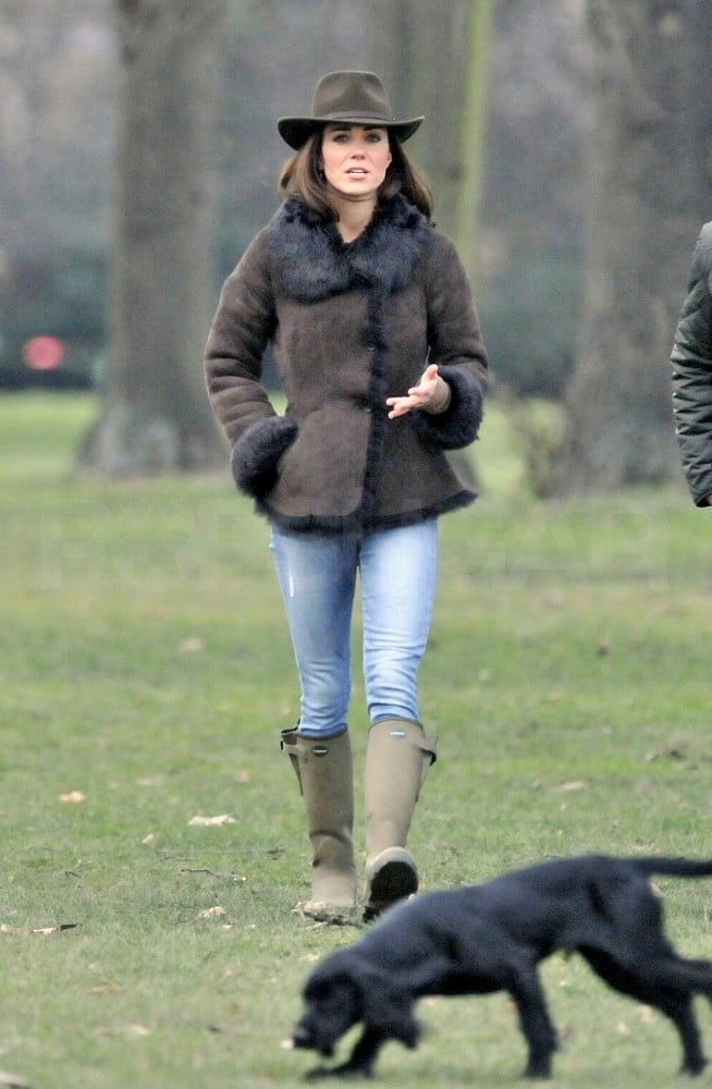 Kate Middleton took her dog Lupo for a walk.
