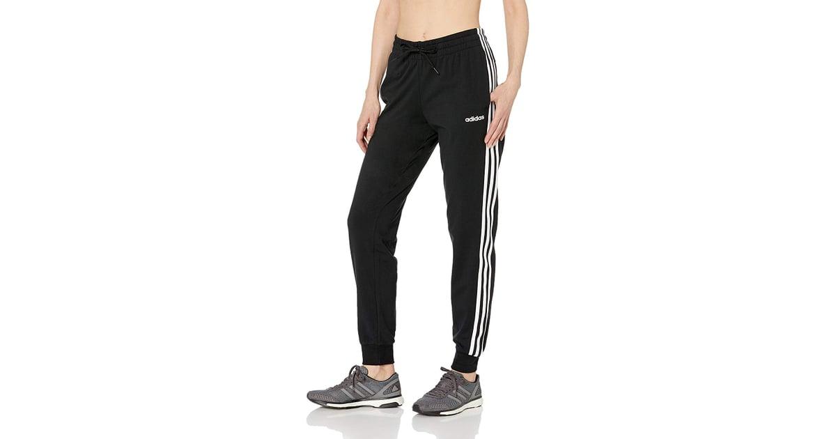 Adidas Women's Essentials 3-Stripes Single Jersey Pants | Fitness ...