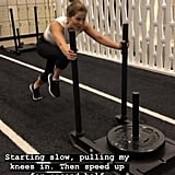 Sled Push With High Knee