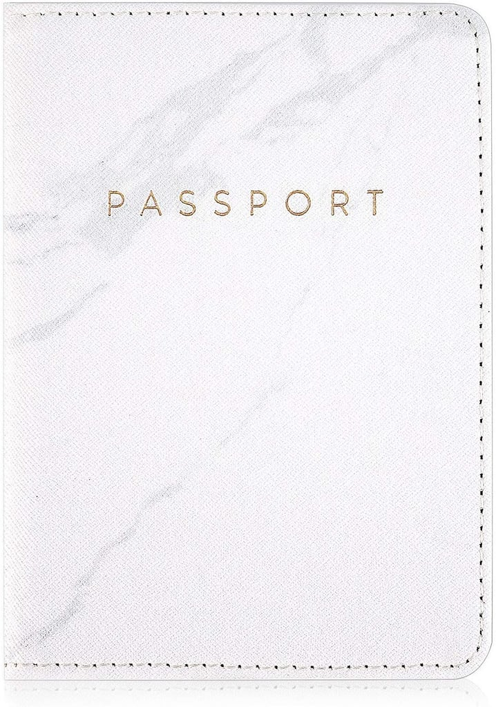 Leminimo Leather Marble Passport Cover