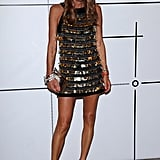 Anna Dello Russo wore a high-wattage sequined minidress to the Vogue Talents event.