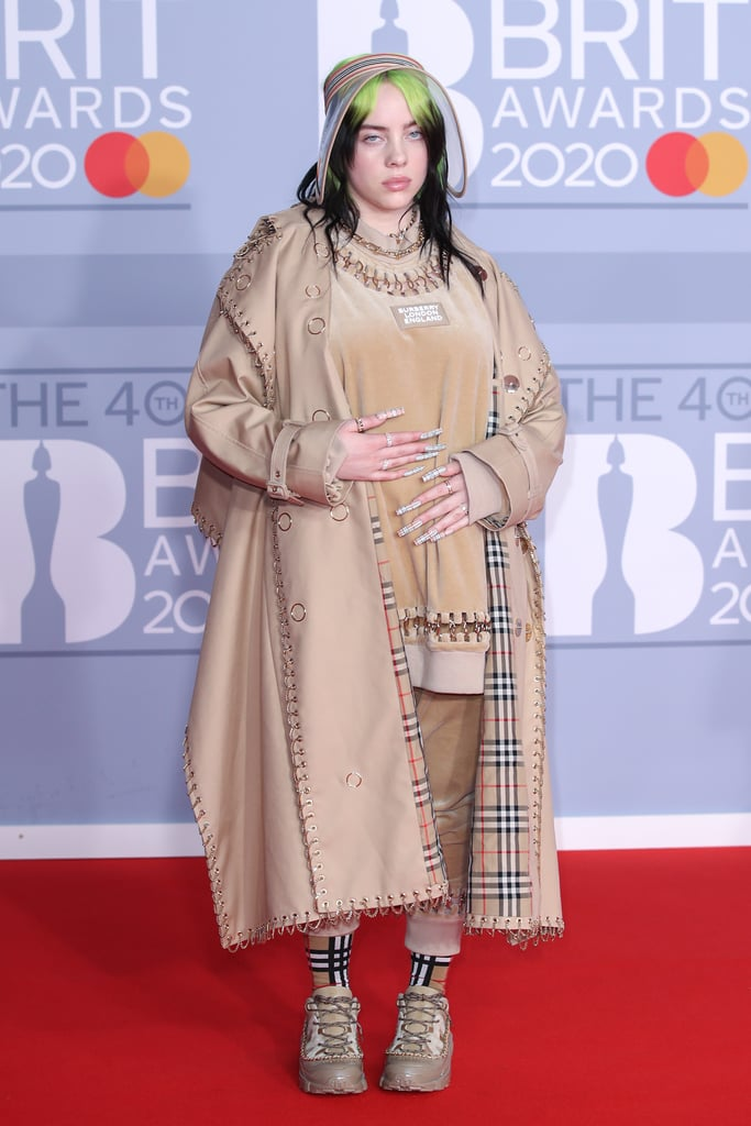 Billie Eilish's Burberry Outfit at the 2020 BRIT Awards