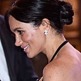 Meghan Markle's Face-Framing Updo, 2018