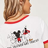 Ardene Mickey Mouse Crop Ringer T-Shirt