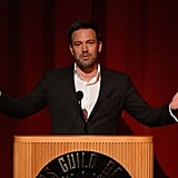 Ben Affleck took to the stage to accept his award.