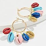 Venessa Arizaga Rainbow Shell Earrings